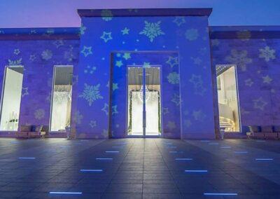 proiezioni natalizie Brescia Lombardia