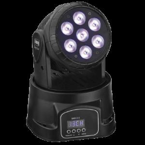NOLEGGIO TESTA MOBILE MINI WASH LED, in affitto da Black star Service materiale audio, video e luci perle tue feste ed eventi - IL MIGLIORE