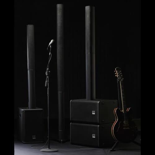 affitto audio verticale Brescia I-line impianto a colonna con mixer integrato 4 canali stereo bluetooth subwoofer, adatto per parlati, sottofondi , musica alta qualità