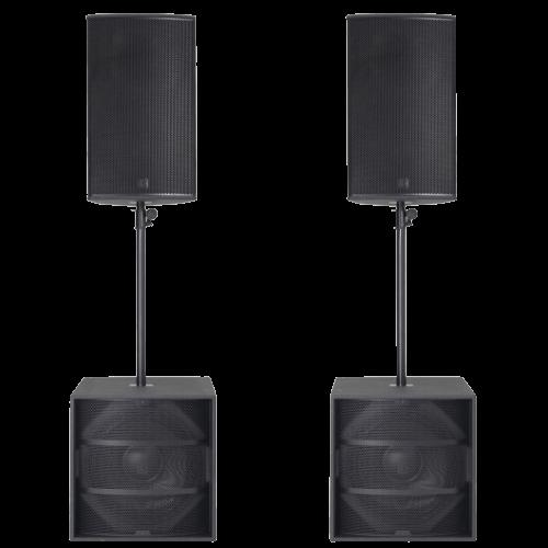 noleggio affitto Outline v 15 kit impianti audio