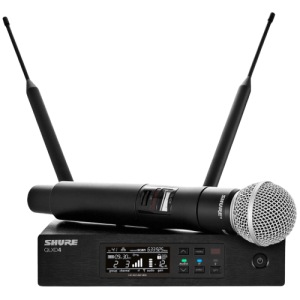 noleggio microfoni brescia microfono professionale per strumenti parlato e cantato cardioide radiomicrofoni centralina shure qlxd4 shure sm58